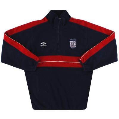 2000-01 England Umbro 1/4 Zip Fleece Jacket XL.Boys