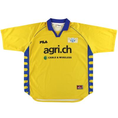 2000-01 FC Zurich Fila Away Shirt XL