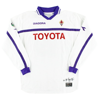 2000-01 Fiorentina Signed Match Issue Away Shirt Rossi #19 L/S XL