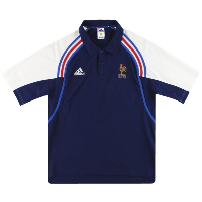 2000-01 France adidas Polo Shirt XL