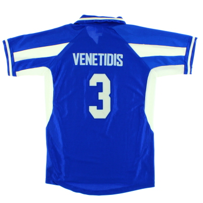 2000-01 Greece Home Shirt Venetidis #3 L