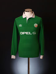 2000-01 Ireland Home Shirt L/S XL