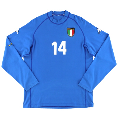 2000-01 Italy Kappa Match Issue Home Shirt #14 L/S XL
