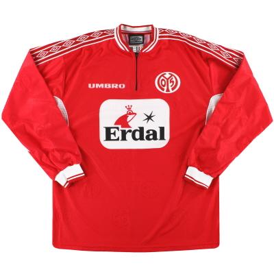 2000-01 Mainz 05 Umbro Home Shirt L/S *Mint* L
