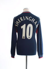2000-01 Manchester United Third Shirt Sheringham #10 L/S M
