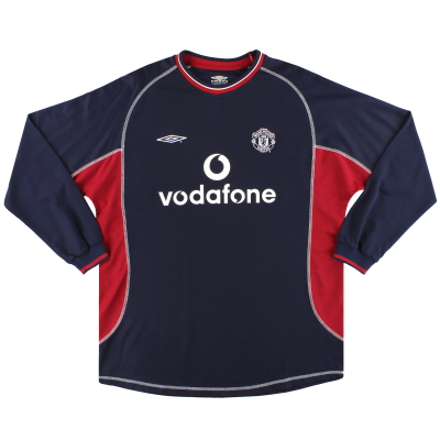 2000-01 Manchester United Umbro Third Shirt L/S Y