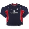 2000-01 Manchester United Umbro Third Shirt Keane #16 L.Boys
