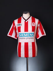 2000-01 Olympiakos Home Shirt *Mint* L