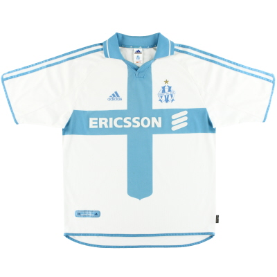 2000-01 Olympique Marseille adidas Home Shirt L