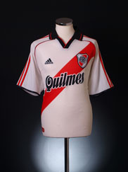 2000-01 River Plate Home Shirt *As New* L