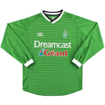 2000-01 Saint-Etienne Umbro Home Shirt L/S L