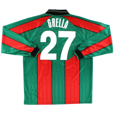 2000-01 Ternana Match Issue Home Shirt Grella #27 L/S *Mint* XXL