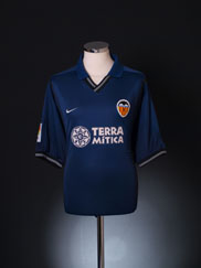 2000-01 Valencia Away Shirt XL