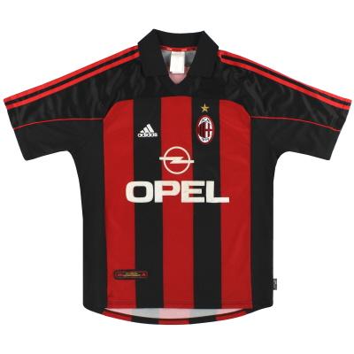 2000-02 AC Milan adidas Home Shirt M
