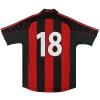 2000-02 AC Milan adidas Player Issue Home Shirt #18 M