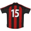 2000-02 AC Milan adidas Player Issue Home Shirt #15 M