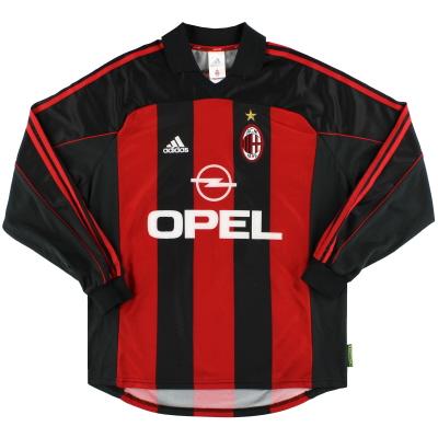 2000-02 AC Milan adidas Player Issue Home Shirt #6 L/S M