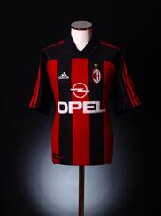 2000-02 AC Milan Home Shirt L