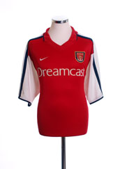 2000-02 Arsenal Home Shirt S