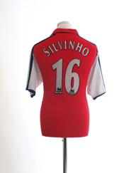 2000-02 Arsenal Home Shirt Silvinho #16 M