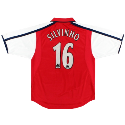 2000-02 Arsenal Home Shirt Silvinho #16 M