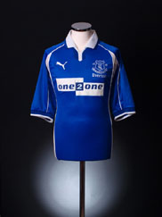 2000-02 Everton Home Shirt L