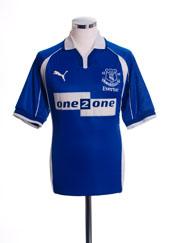 2000-02 Everton Home Shirt S