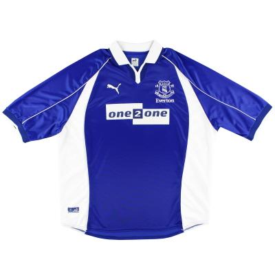 2000-02 Everton Puma Home Shirt L