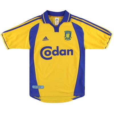 2000-02 FC Brondby adidas Home Shirt M