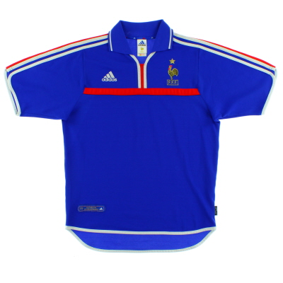 2000-02 France Home Shirt S