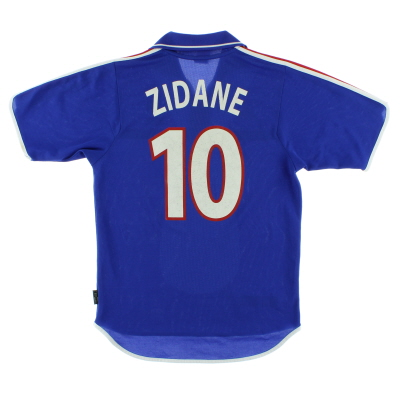 2000-02 France Home Shirt Zidane #10 S
