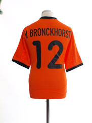 2000-02 Holland Home Shirt v.Bronckhorst #12 M