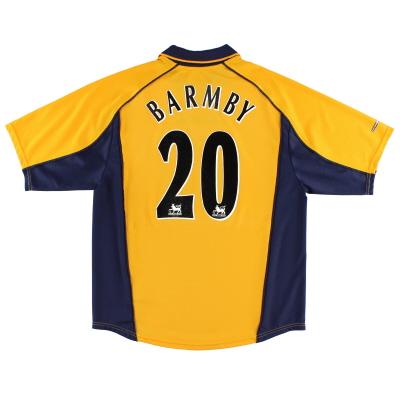 2000-02 Liverpool Away Shirt Barmby #20 L
