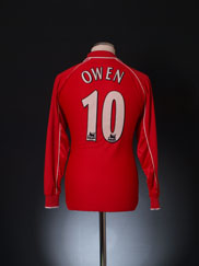 2000-02 Liverpool Home Shirt Owen #10 *Mint* L/S S