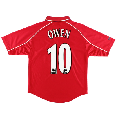 2000-02 Liverpool Home Shirt Owen #10 L.Boys