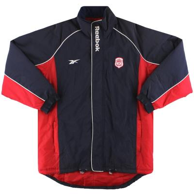 2000-02 Liverpool Reebok Padded Bench Coat  XL