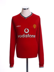 2000-02 Manchester United Home Shirt L/S XXL