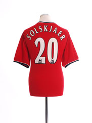 2000-02 Manchester United Home Shirt Solskjaer #20 M