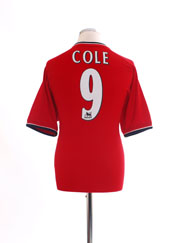 2000-02 Manchester United Home Shirt Cole #9 M