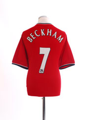 2000-02 Manchester United Home Shirt Beckham #7 L