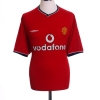 2000-02 Manchester United Home Shirt Beckham #7 L