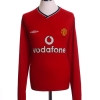 2000-02 Manchester United Home Shirt Yorke #19 L/S L