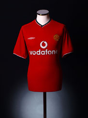 2000-02 Manchester United Home Shirt L