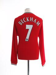 2000-02 Manchester United Home Shirt Beckham #7 L/S L