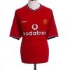 2000-02 Manchester United Home Shirt Sheringham #10 L