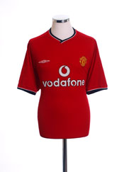 2000-02 Manchester United Home Shirt M