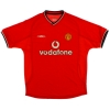 2000-02 Manchester United Home Shirt Yorke #19 M