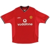 2000-02 Manchester United Umbro Home Shirt Solskjaer #20 XL