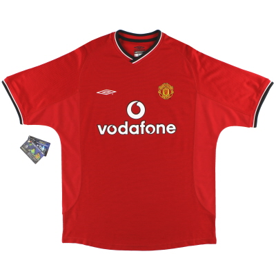2000-02 Manchester United Umbro Home Shirt *w/tags* L