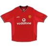 2000-02 Manchester United Umbro Home Shirt Beckham #7 L